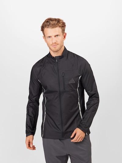 ADIDAS PERFORMANCE Jacke in schwarz / silber: Frontalansicht