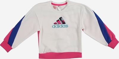 Hanorac sport ADIDAS PERFORMANCE pe albastru / turcoaz / roz / alb, Vizualizare produs