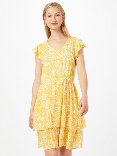Sublevel Robe d'été en jaune / blanc, Vue avec modèle