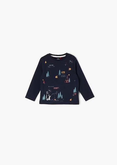 s.Oliver T-Shirt langarm in blau, Produktansicht