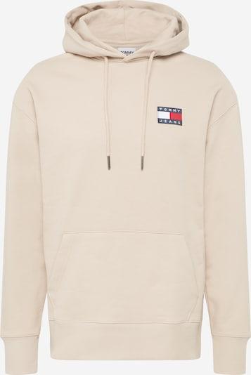 Bluză de molton Tommy Jeans pe bej / navy / roșu / alb, Vizualizare produs