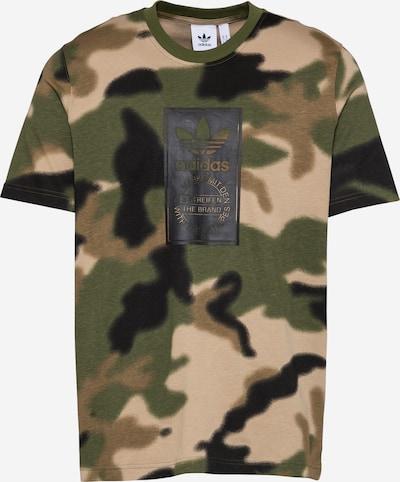ADIDAS ORIGINALS T-Shirt in beige / grün / schwarz, Produktansicht