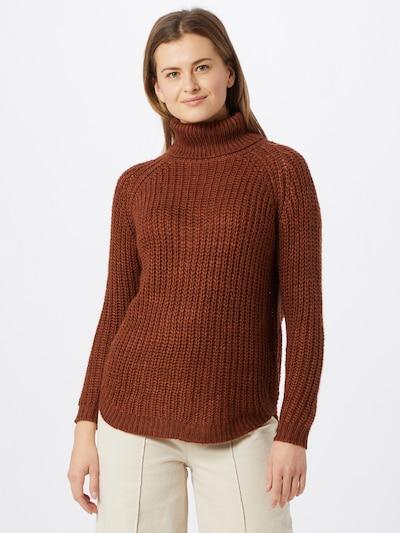 ONLY Pull-over 'Mella' en marron, Vue avec modèle