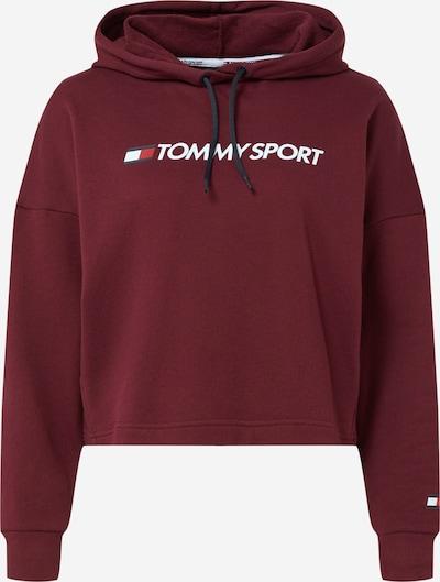 Tommy Sport Sport sweatshirt i bordeaux / vit, Produktvy