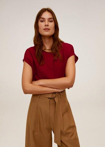 MANGO Bluse `freeman´ in rubinrot, Modelansicht