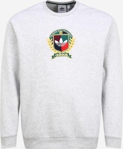 ADIDAS ORIGINALS Sweatshirt 'Collegiate Crest' in gelb / hellgrau / grün / hellrot / weiß, Produktansicht
