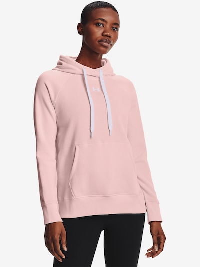UNDER ARMOUR Sweatshirt 'Rival' in rosa: Frontalansicht