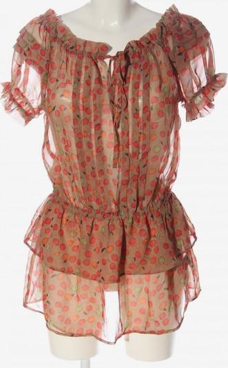 Deby Debo Transparenz-Bluse in S in braun / grün / rot, Produktansicht