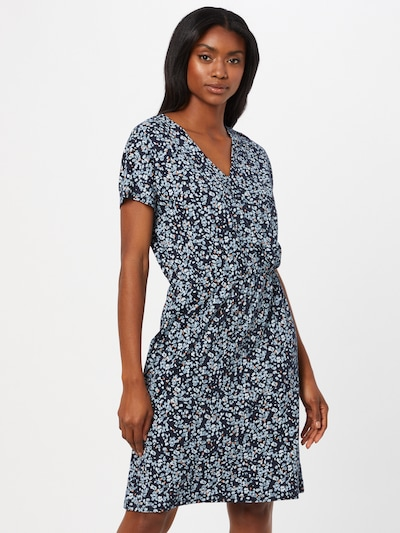 ARMEDANGELS Лятна рокла 'LAAVI' в нощно синьо / светлосиньо / кайсия / бяло, Преглед на модела
