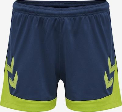 Hummel Sportbroek 'Poly' in de kleur Donkerblauw / Limoen, Productweergave