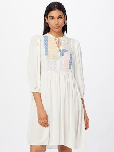 mbym Kleid 'Etienne' in creme / blau / gelb / rosa, Modelansicht