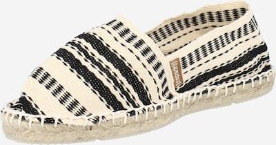 espadrij l´originale Slipper in schwarz / weiß, Produktansicht
