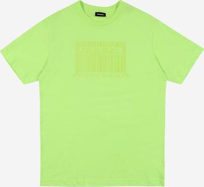 DIESEL Majica 'TUDERCODE' | neonsko zelena barva: Frontalni pogled