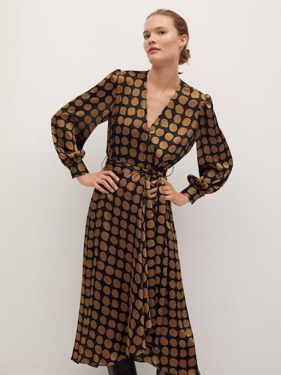 MANGO Kleid in karamell, Modelansicht