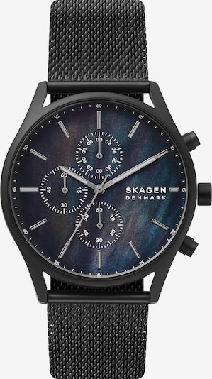 SKAGEN Uhr in dunkelblau / schwarz / silber, Produktansicht