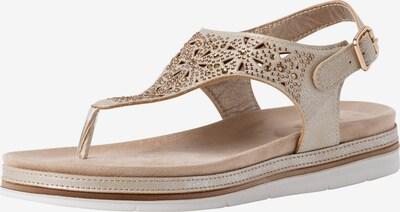 JANA Sandale in beige / gold, Produktansicht