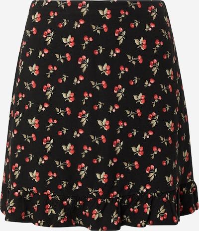 Abercrombie & Fitch Svārki, krāsa - gaiši zaļš / sarkans / melns, Preces skats