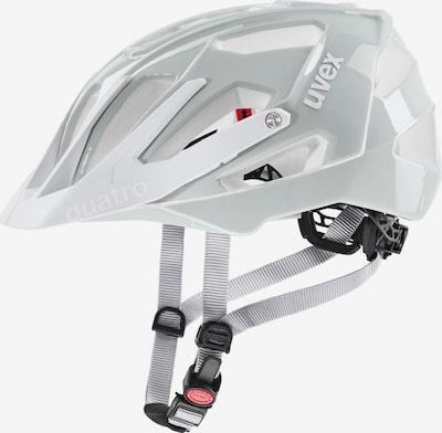 UVEX Fahrradhelm 'Quatro' in hellgrau / weiß, Produktansicht