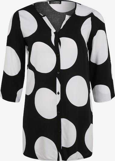 Doris Streich Longbluse mit Allover-Muster in schwarz, Produktansicht