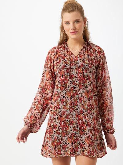 Noisy may Kleid 'MIA' in senf / orangerot / schwarz / weiß, Modelansicht