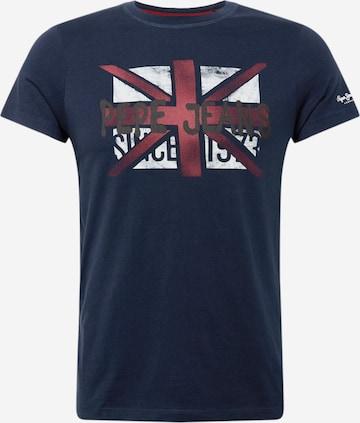 Pepe Jeans Тениска 'ROLAND' в синьо