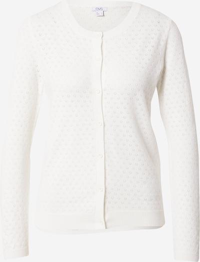 OVS Strickjacke 'POINTELLE' in weiß, Produktansicht
