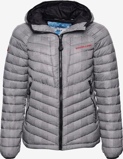 Superdry Winterjas in de kleur Grijs / Rood / Zwart, Productweergave