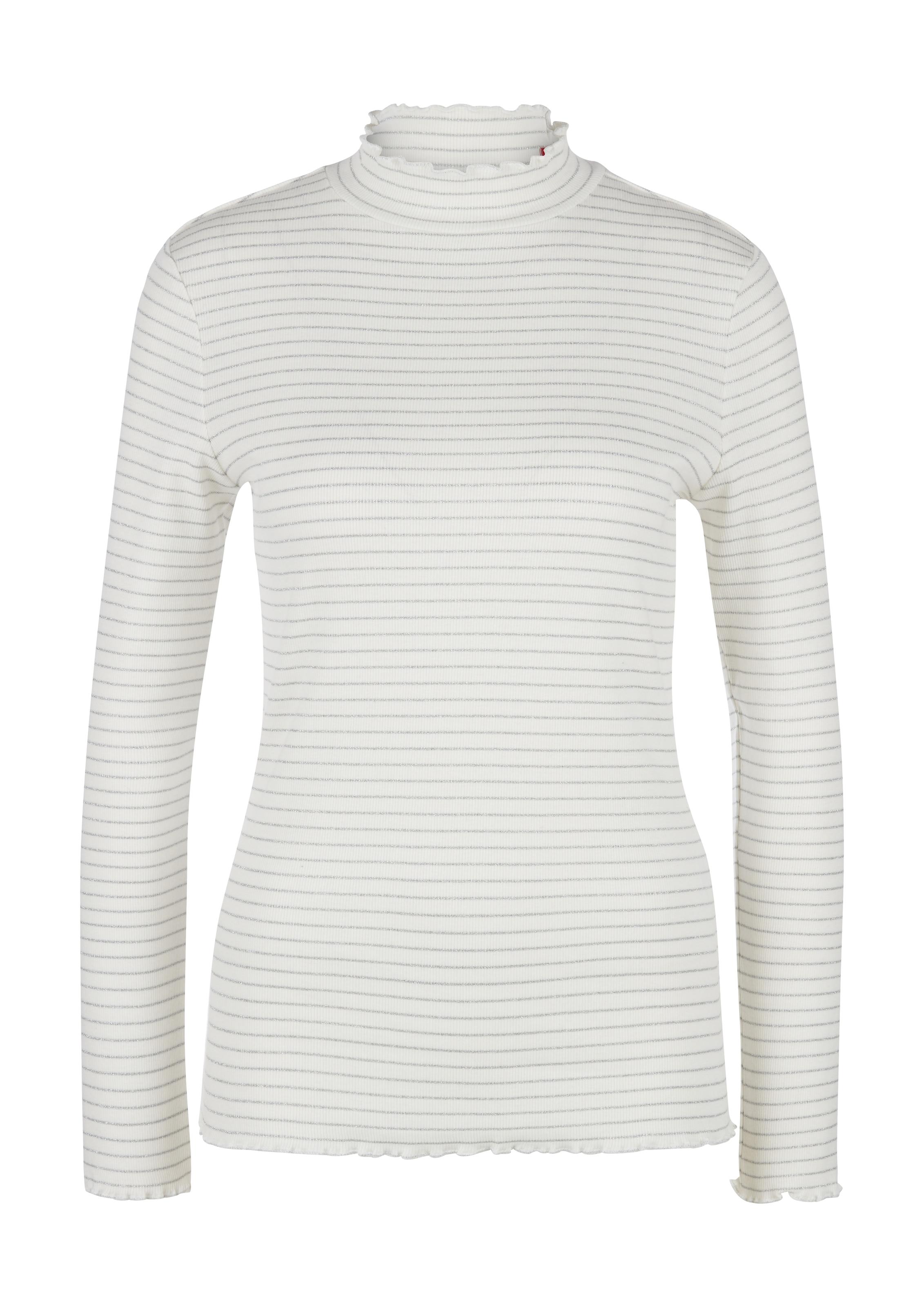 s.Oliver Shirt in silber / weiß