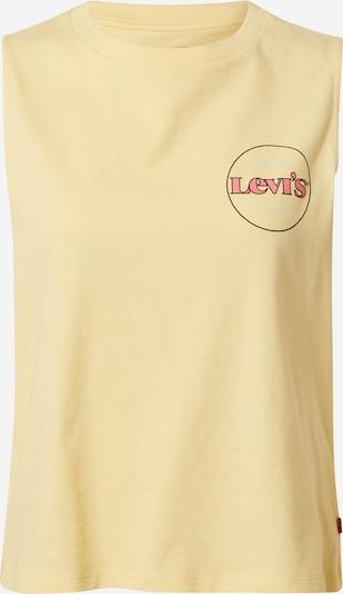 LEVI'S Top in de kleur Pasteelgeel / Lichtrood / Zwart, Productweergave
