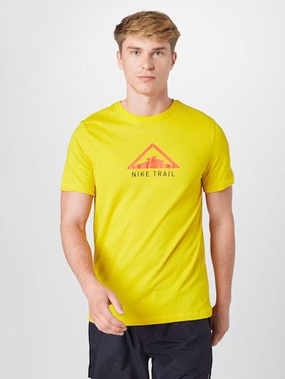 NIKE T-Shirt in gelb / rot / schwarz: Frontalansicht