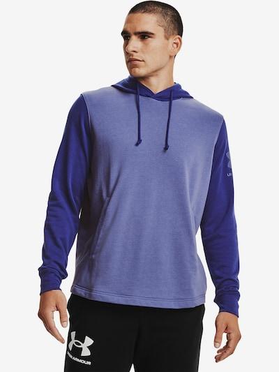 UNDER ARMOUR Sportsweatshirt 'Rival Terry' in de kleur Pruim: Vooraanzicht