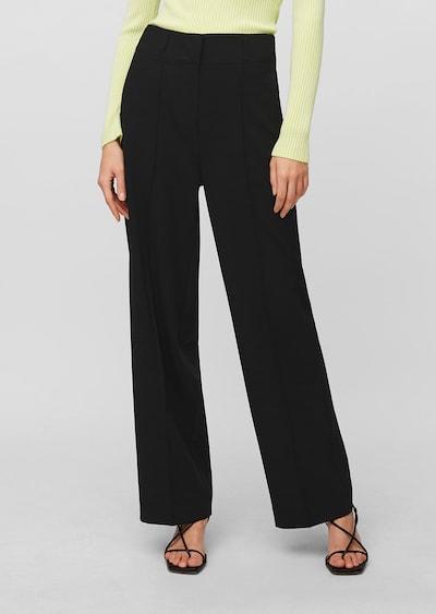 Marc O'Polo Pure Pantalon à plis en noir, Vue avec modèle
