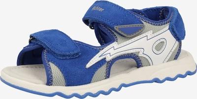 RICHTER Sandalen in blau / grau / weiß, Produktansicht