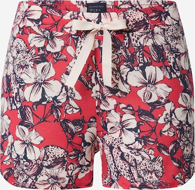 SCHIESSER Pantalon de pyjama en marine / pitaya / blanc, Vue avec produit