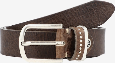 b.belt Handmade in Germany Riem 'Cleo' in de kleur Bruin / Zilver, Productweergave