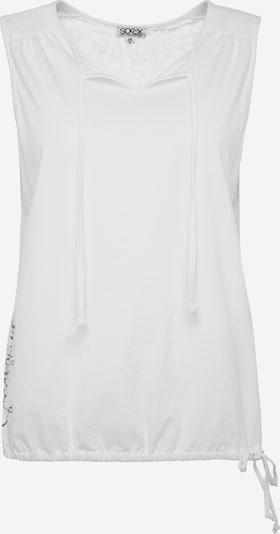 Soccx T-shirt en blanc, Vue avec produit