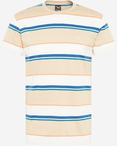 Iriedaily Μπλουζάκι 'Big Tony' σε άμμος / μπλε ρουά / μπλε ουρανού / ανοικτό πορτοκαλί / λευκό, Άποψη προϊόντος