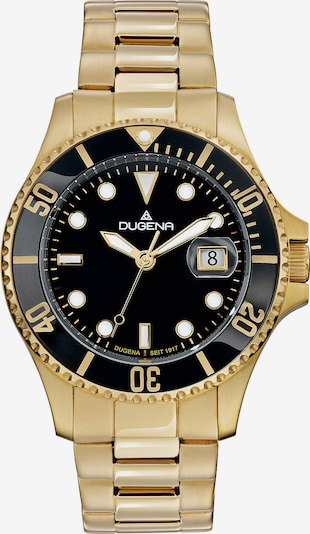 DUGENA Uhr 'Quarz' in schwarz / silber, Produktansicht