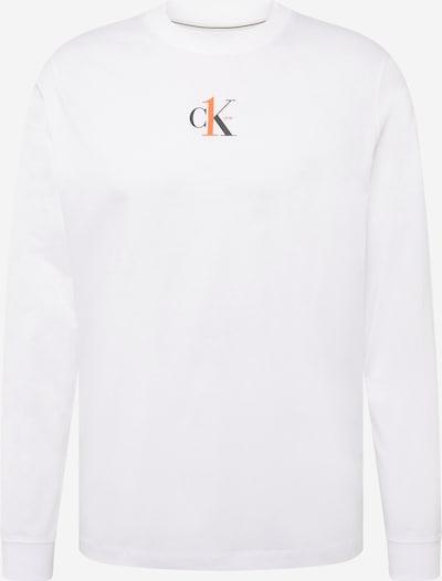 Calvin Klein Jeans Sweatshirt in orange / schwarz / weiß, Produktansicht