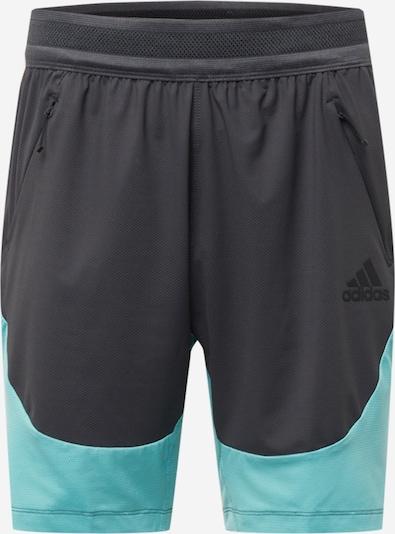 ADIDAS PERFORMANCE Shorts in türkis / grau, Produktansicht
