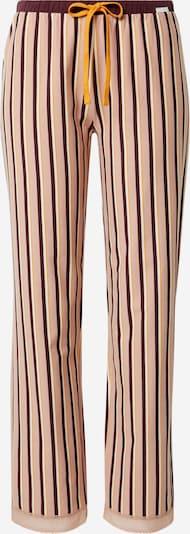 Skiny Pantalon de pyjama en orange / rose ancienne / rouge foncé / blanc, Vue avec produit