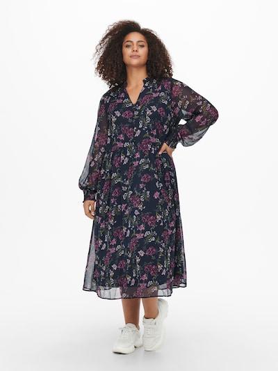 ONLY Carmakoma Kleid 'Shanna' in nachtblau / khaki / purpur / weiß, Modelansicht