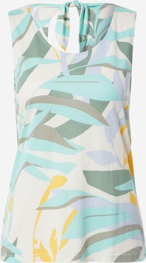 s.Oliver Top in creme / türkis / opal / gelb / khaki, Produktansicht