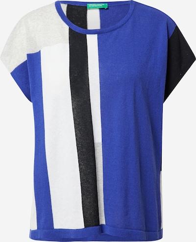 Pulover UNITED COLORS OF BENETTON pe albastru / gri deschis / negru / alb, Vizualizare produs