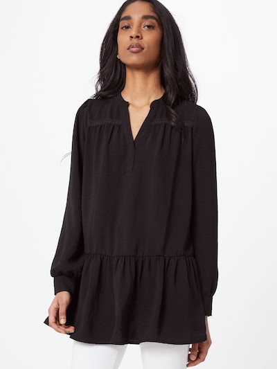 JACQUELINE de YONG Tunic 'LAURA' in black: Frontal view
