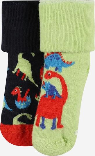 Happy Socks Socken 'Dinos' in nachtblau / hellblau / hellgrün / rot, Produktansicht