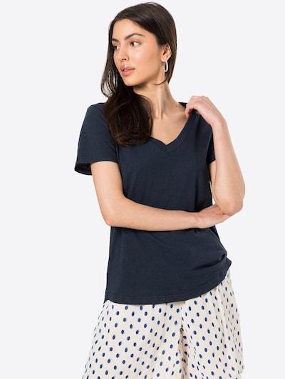 ICHI Тениска в тъмносиньо: Изглед отпред