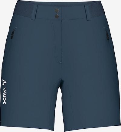 VAUDE Outdoor Pants 'Scopi II' in marine blue / White, Item view