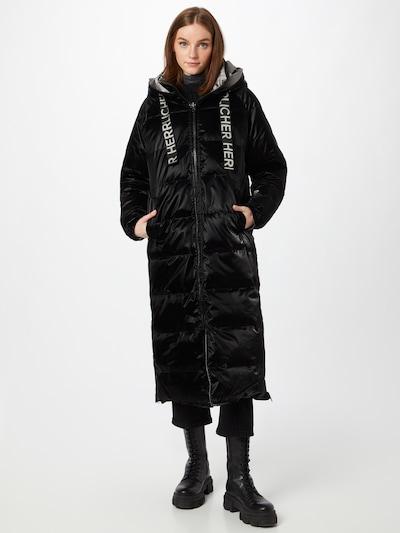 Herrlicher Winter Coat 'Tola' in Silver grey / Black, View model