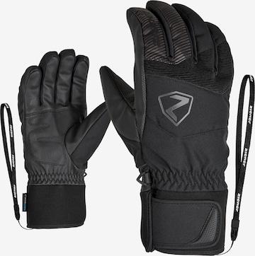 ZIENER Urheilukäsineet 'GINX AS(R) AW glove ski alpine' värissä musta